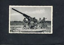Postcard - WWII View of American 3 inch Anti-Aircraft Gun in Action