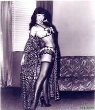 Bettie Page B&W Photo 8X10 HOT SEXY Free Shipping
