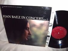 JOAN BAEZ-IN CONCERT PART 2 folk rock vinyl LP