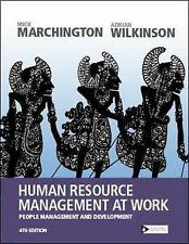 Human Resource Management at Work: People Management and Development by Mick Ma