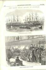 1856 Main Deck Of The Blenheim Map Of Spit Head