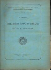 Manacorda POESIA LATINA IN GERMANIA RINASCIMENTO 1906