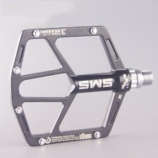SMS Aluminum MTB Mountain Road Bike 3 Bearing Pedals flat Platform Bicycle Pedal