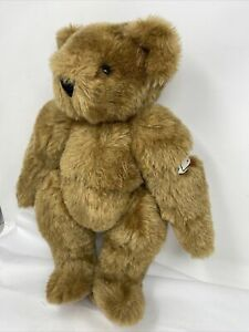 """Vermont Teddy Bear """"Annette"""" on embroidered arm jointed limbs 17"""""""
