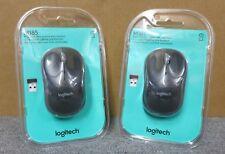 2 X Nuevo Sellado 910-002235 Logitech M185 Mouse Óptico Inalámbrico Plug and Play