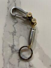 Titanium EDC Polished Carabiner, Keychain, Key Ring, Titanium Bullet Bead
