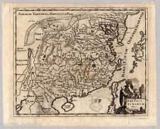 Cina-Giappone-Nihon-NIPPON - RAME-mappa-MAP Cluver del 1700