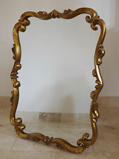 Traditional Gold Ornate Scrolled Frame Vanity Mirror Wall Mounted Free Standing