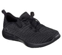 Skechers Shoes Memory Foam 12877 Black Women Slip On Casual Knit Mesh Soft Woven