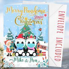 Christmas Pandemic Card Virus Lockdown Santa Panda Pandas Xmas Gift Present Kids