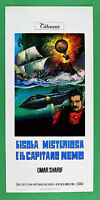 L29 Plakat die GEHEIMNISVOLLE INSEL E die Kapitän Nemo Omar Sharif