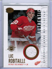 02/03 PACIFIC CALDER LUC ROBITAILLE #10 GAME-WORN JERSEY CARD DETROIT RED WINGS