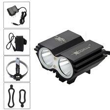 6000Lm 2x CREE U2 LED SolarStorm  Bicycle Light Bike Headlight 12000mAh+Charger