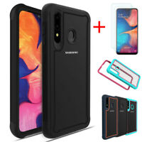 For Samsung Galaxy A20s Defender Case Dual Layer Hybrid Cover +Screen Protector