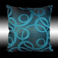 ABSTRACT ELEGANT TURQUOISE DECORATIVE THROW PILLOW CASE CUSHION COVER 17""