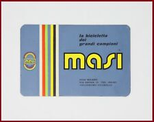 NOS ORIGINAL MASI BUSINESS CARD 80s 90s VINTAGE WITH GEAR RATIO TABEL