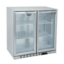 More details for new 2 hinged door stainless undercounter bottle cooler pub bar beer fridge