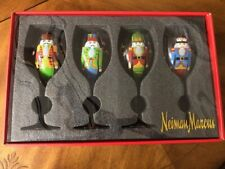 New listing New Neiman Marcus Nutcracker Stem Wine Glasses Hand Painted Christmas Holiday