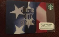 "STARBUCKS GIFT CARD ""VETERANS DAY"" RARE HONOR DUTY SERVICE LIMITED Free Shipping"
