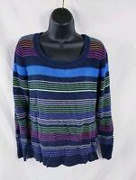 Vtg Liz Claiborne Women's SZ L Sweater Knit Pullover Long Sleeve Striped