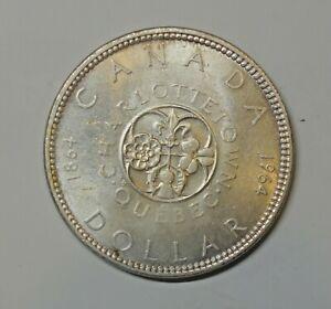 CANADA : SILVER DOLLAR 1964. 0.800 SILVER. CHARLOTTETOWN QUEBEC