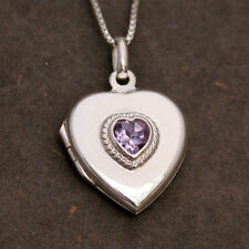 Love Hearts Amethyst Fine Necklaces & Pendants