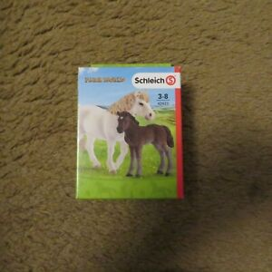 Schleich  42423 Pony Mare and Foal NEW In Box