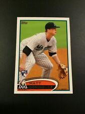 2012 Topps # 198 MATT DOMINGUEZ ROOKIE RC Florida Marlins Great Card LOOK !
