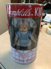 """New Campbell's Soup Kids 1998 Junior Series 6"""" Doll In Can Little Chef Girl Bank"""