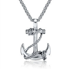 Women Mens Stainless Steel Gold Silver Black Anchor Necklace Square Rolo Chain