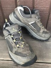 Mens Vasque GoreTex Size 8.5M Gray Leather Trail Hiking Outdoor Vibram Sole -309