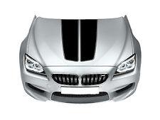Fits BMW Bonnet Racing Stripes Cars Stickers  Decal Size 45x65 Cm