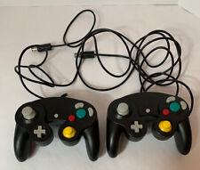 Official Nintendo GameCube Controller- Black- Lot Of 2