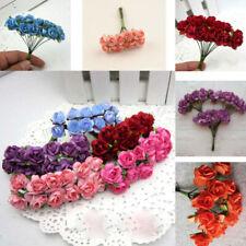 144pcs Paper Rose Flower Wedding Cake Envelopes Card Scrapbook Decor Crafts