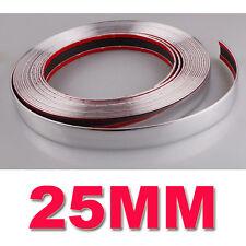 25 mm (2.5 Cm) X 15 M Tira Estilo de moldeo de Coche Adorno De Cromo Recortar Adhesivo Nuevo