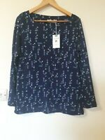 Lily & Me Retro Floral Print Jumper Top Size 16