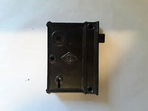 Vintage / Antique Door Hardware. Old Flush Mount Door Lock. No Key. Old