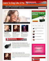 LEARN TO SING AFFILIATE WEBSITE WITH STORE + NEW FREE DOMAIN AND HOSTING