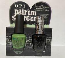 OPI Nail Polish Pair'em Scare'em Glow In Dark Zom-Body To Love + Black Shatter