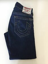 "True Religion Mens Jeans Slime Fit Dark Blue Section Zach Waist 33"" Leg 32.5"""