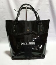 SALVATORE FERRAGAMO Patent Leather Tote Shoulder Bag