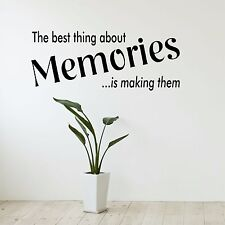 The best thing about memories - Wall Art Decal Stickers Quality New