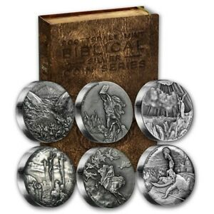 2015 Biblical Series Silver Antiqued Finish  6-coins Scottsdale mint