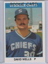 DAVID WELLS ROOKIE CARD 1987 TCMA Syracuse Chiefs RARE $$ RC Baseball YANKEES!