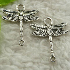 154 pcs tibet silver dragonfly connectors 28x23mm #4663 free ship