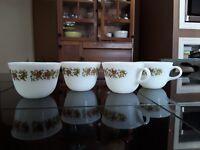 Vintage Pyrex Corning Ware Spice Of Life Coffee, Tea Mugs 4pcs.Tableware