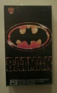 BATMAN VHS 1989 WARNER HOME VIDEO GOOD CONDITION