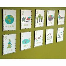 Chinese Numbers Woodland Counting Wall Cards, Set Of Ten 5x7 Nature Themed Art