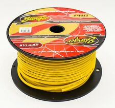 8 GAUGE AMPLIFIER POWER CABLE STINGER OFC YELLOW PURE COPPER WIRE PER METRE