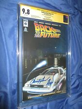 BACK TO THE FUTURE #6 IDW CGC 9.8 SS Signed Christopher Lloyd/Doc Brown Variant